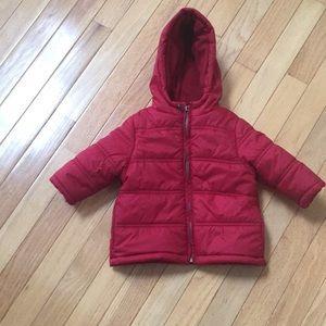 Gymboree red puffer coat